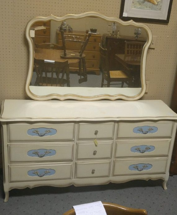 French Provincial Dresser W Mirror Attic Picker Antiques